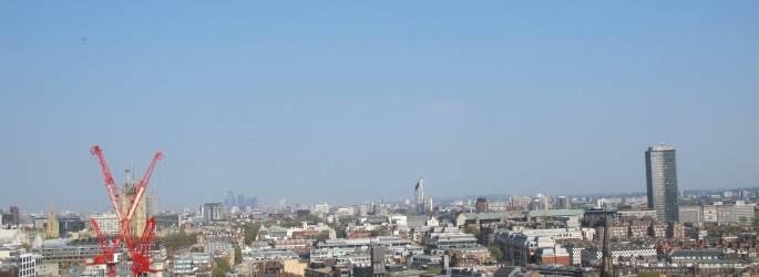 London seen from Westminster Cathedral