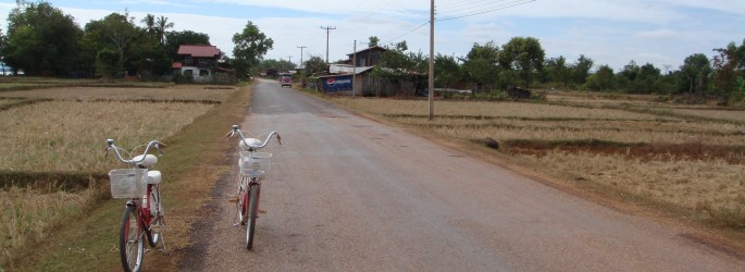 Bicycles in Champasak