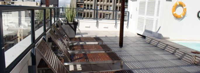 The Adderley's Rooftop Pool Area