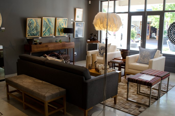 Furniture at Ebony, one of Franschhoek's lovely boutiques